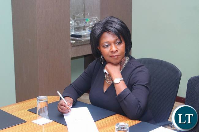 Minister of Finance Margaret Mwanakatwe