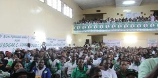 President Lungu addressing Copperbelt PF Officials