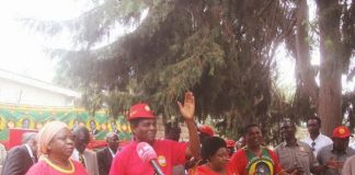 Mr Hichilema addressing a media conference on Wednesday