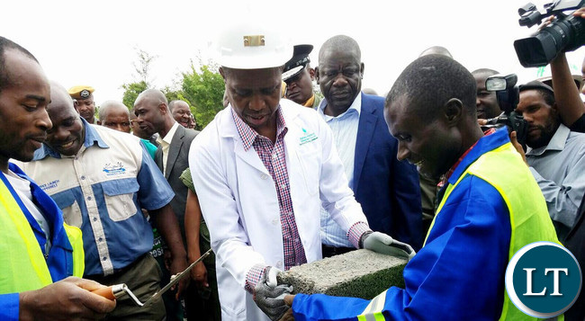 President Lungu at the site of construction of PF head office on the Copperbelt