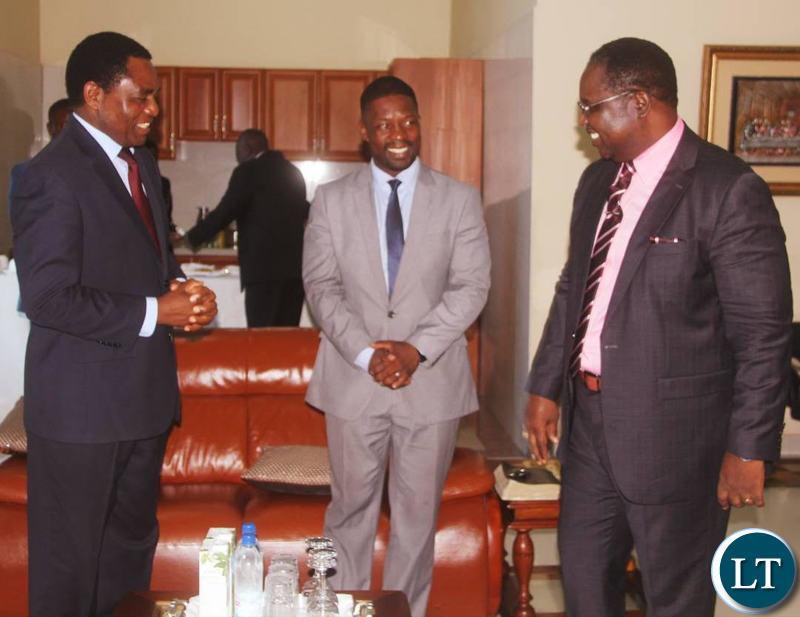 HH with Bishop Imakando and Pastor Chileshe