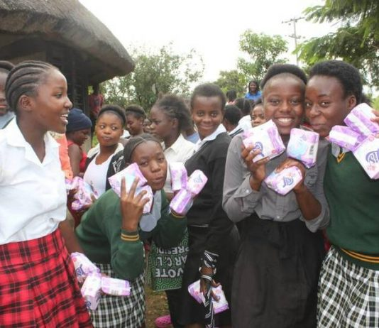 Some of the Recipients for the Sanitary pads