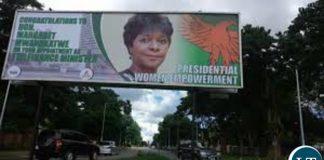 Margaret Mwanakatwe Billboard