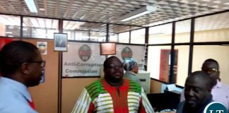 Mr Kambwili at ACC Headquaters
