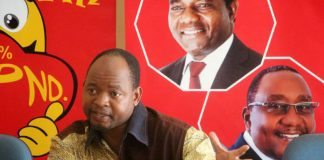 Mr Mweetwa speaking during the weekly UPND news conference