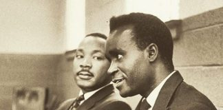 Young Kenneth Kaunda with America's Civil Rights leader Martin Luther King Jnr.jpg