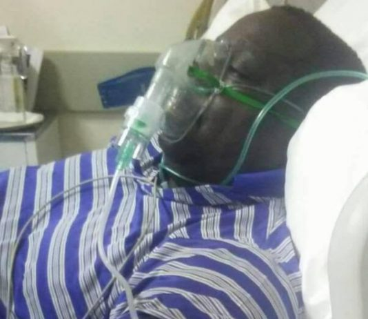 Mr Kambwili on oxygen in ICU