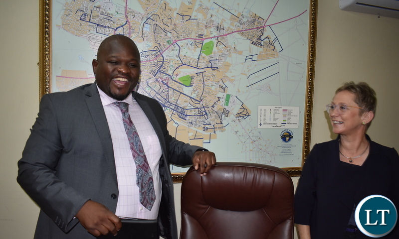 Alexander Chiteme and World Bank Country Manager Ina-Marlene Ruthenberg