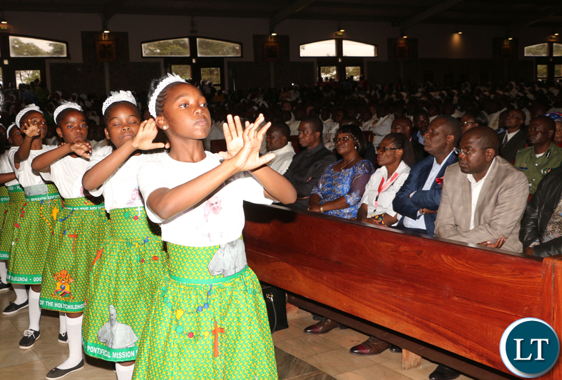 """The little dancing girls """"stella"""" lightened up the mass."""