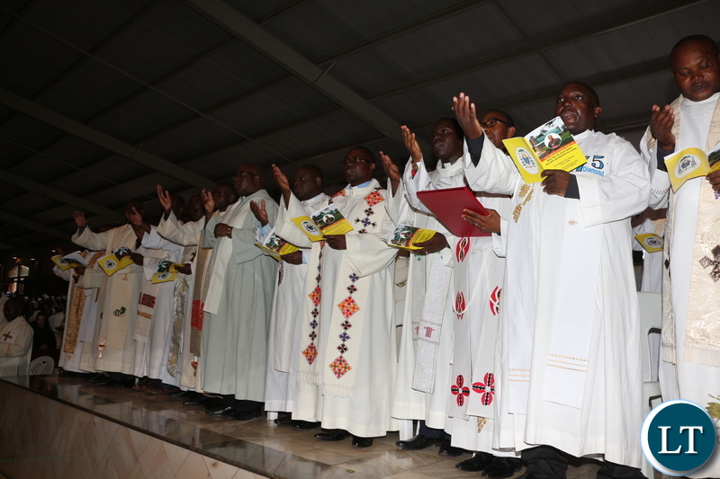 A good number of Zambia clergy paternity was in attendance.