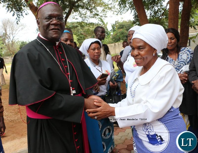 Bishop Dr Alick Banda with Soli people senior chieftainess Nkomesha Mukamambo II.