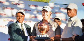 PRESIDENT Edgar Lungu at the 2018 Zanaco Masters Golf Tournament finals