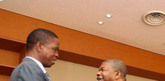 FILE: President Edgar Lungu With Angolan President Joáo Manuel Gonçalves Lourenço,