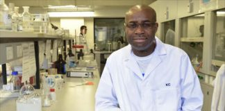 Prof Kelly Chibale at the University of Cape Town.