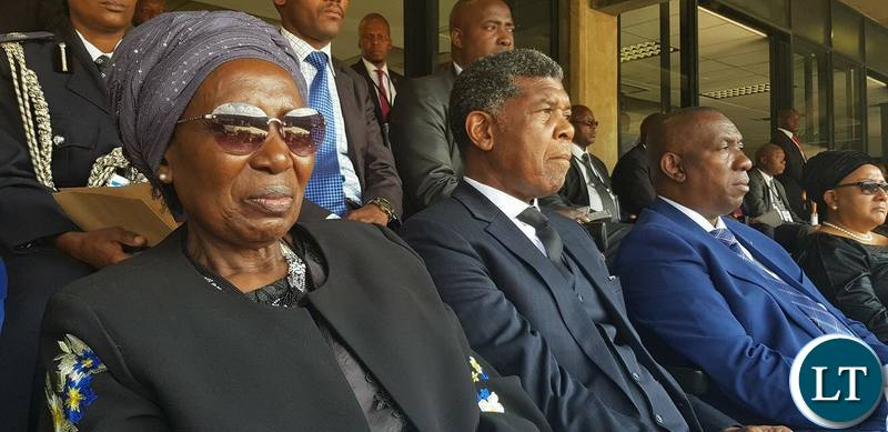 Vice President Inonge Wina at Winnie Mandela's Funeral