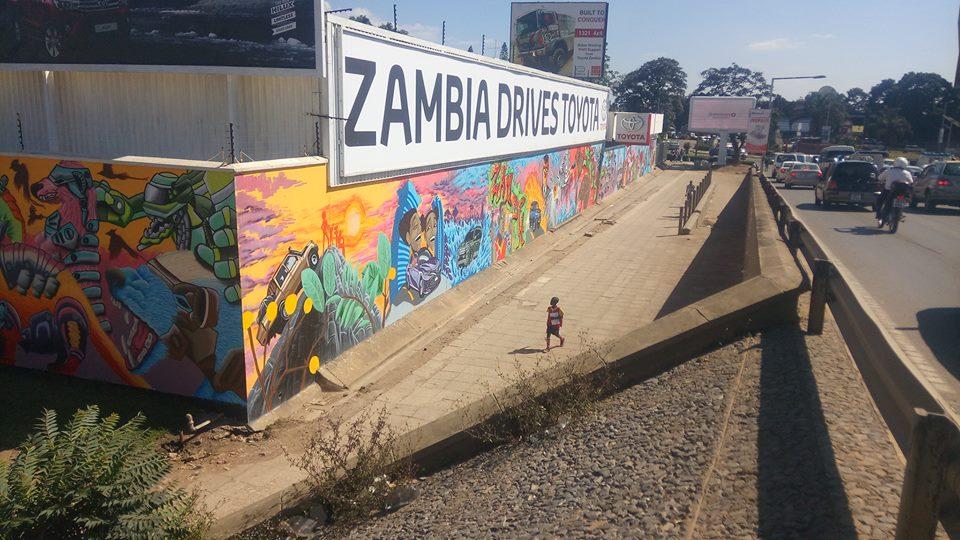Zambia Graffiti Artists Create Zambias Biggest Mural