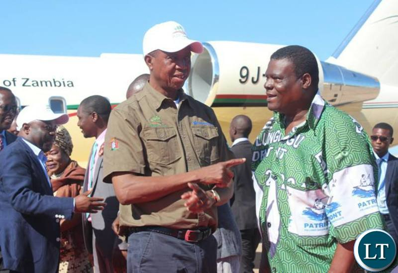 President Lungu  in Chnsali for a Tree Planting day