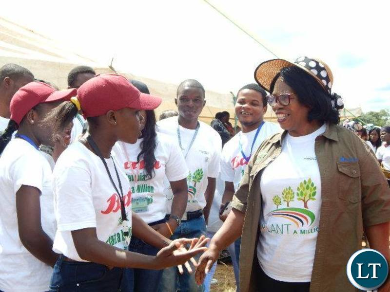 Education Minister Nkandu Luo in Chinsali for Tree Planting day
