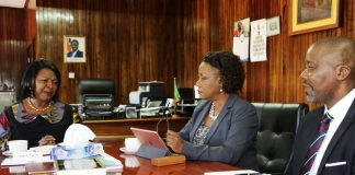Barclays Africa Deputy Managing Director PETER MATLARE at the FInance Minister's office