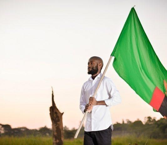 Dr Sishuwa Sishuwa flying the flag of Zambia