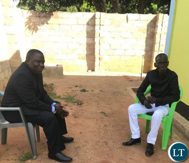 Mr Kalaba held talks with Paramount Chief Mpezeni of the Ngoni people at his palace.