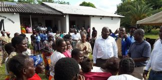 Minister of Health, MCC Hon. Dr Chitalu Chilufya in Luano , Central Province of Zambia