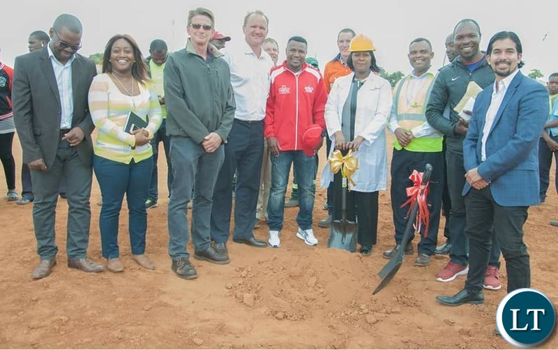 Margaret Mwanakatwe at the ground breaking ceremony of the Bauleni youth center
