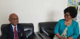 Ratnesh Kashyap with Zambia's High Commissioner to India Judith Kapijimpanga