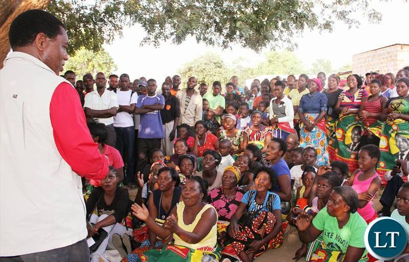 UPND officials on campaign trail for the party's Candidate Ms Charmaine Mehl