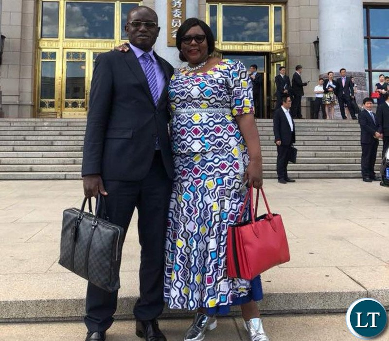 Zambia zambia is is happy with the support the chinese government hon dora siliya and special assistant to the president amos chanda outside the chinese great hall ccuart Choice Image