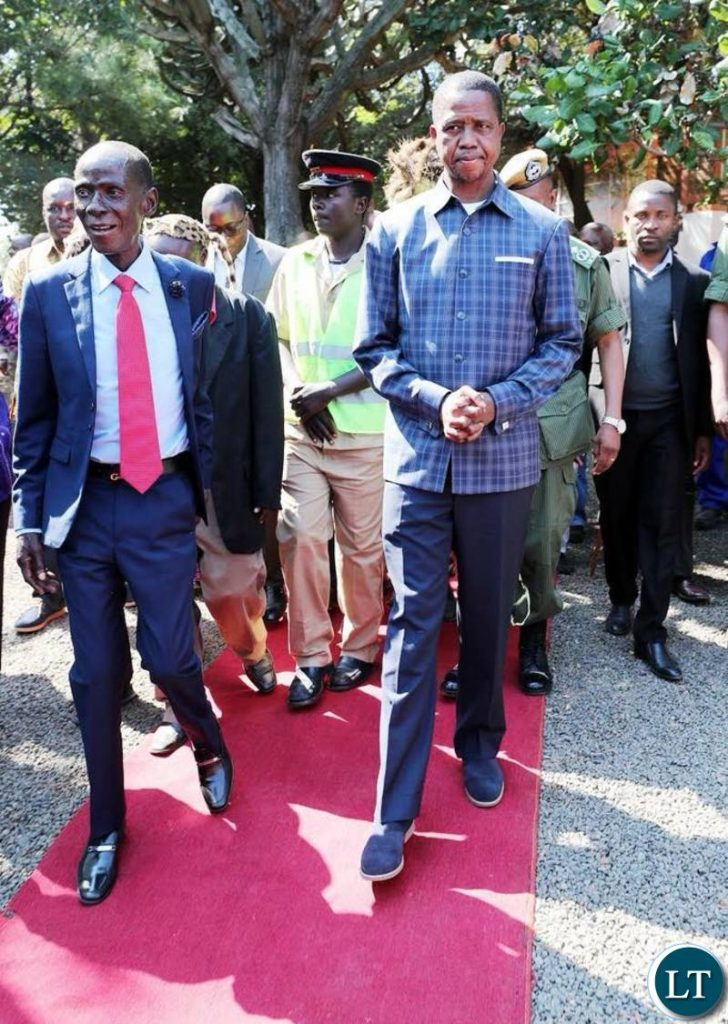 President Lungu with Chief Mpezeni