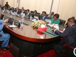 President Edgar Lungu chairs Cabinet meeting at State House on Monday, 18th June, 2018. Picture by Thomas Nsama