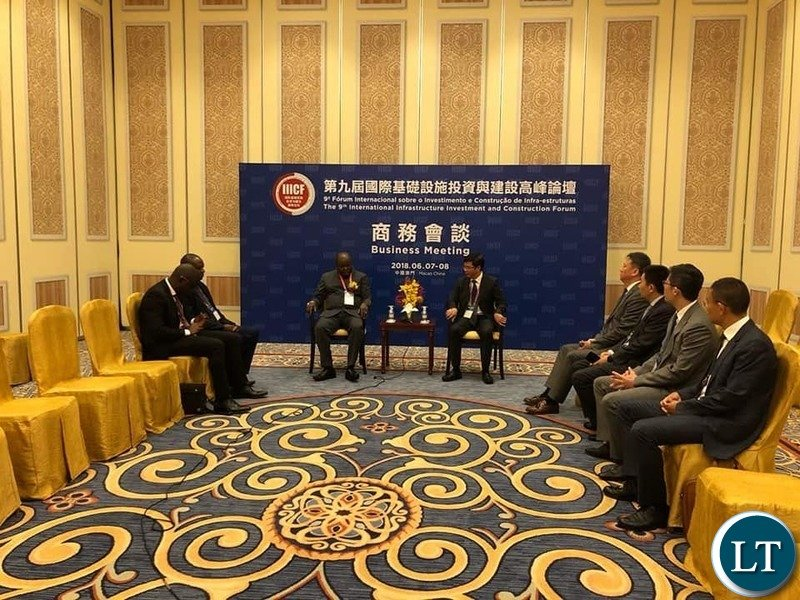 Housing and Infrastructure Development Minister Hon. Ronald Chitotela at the he International Infrastructure Investment and Construction Forum in China
