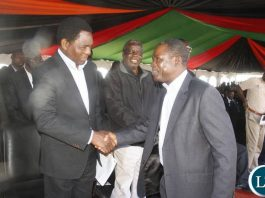 HH and Wynter Kabimba meet at late Munkombwe's burial in Choma