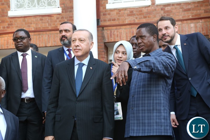 President Edgar Lungu confers with President of Turkey Recep Erdogan at state House after the official talks