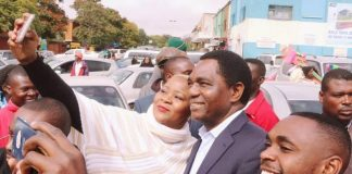 HH interacts with Lusaka residents