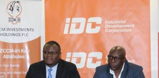 IDC Group Chief Executive Officer Mr Mateyo Kalubawith ZCCM-IH Chief Executive Officer Dr Pius Kasolo