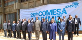 President Edgar Lungu with other Heads of State after the official opening of the 20th Summit of the Comesa Heads of State and Government in lusaka