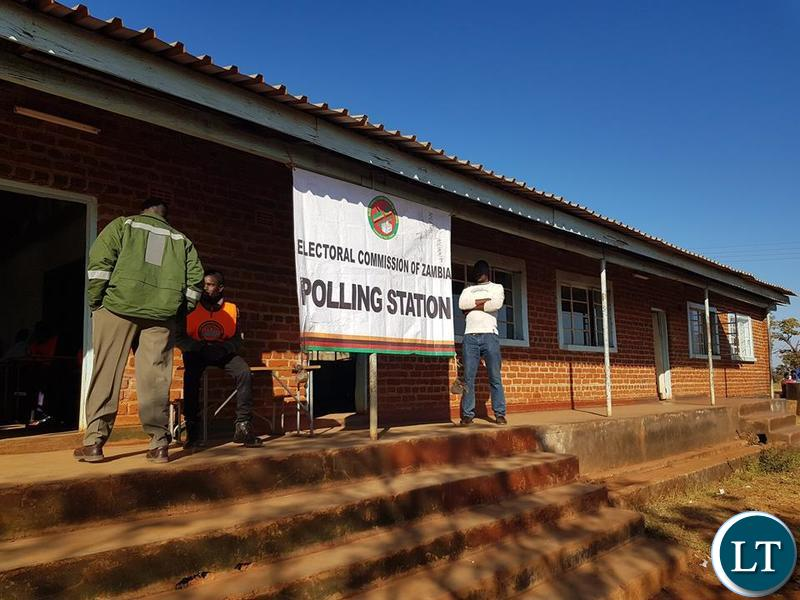 Khokwe shed polling station in Khokwe polling district in Kasenga ward in Chipangali district, Eastern Province.