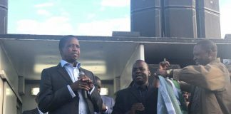 Mr Bilumba being welcomed by President Lungu and PF Lusaka Mayoral elections Campaign Manager Paul Moonga