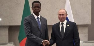 President Edgar Lungu and Russia's Vladimir Putin Meeting