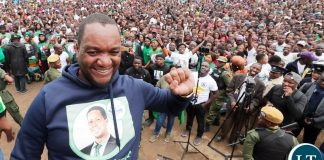 Lusaka Mayoral candidate Miles Bwalya Sampa in Bauleni