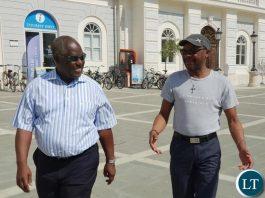 Piran Coastline; Mayor Bossman and ambassador Mukwita