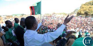 President Edgar Lungu at the Public rally in Lumezi Eastern Province on Saturday