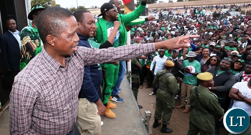 President Edgar Lungu drum up support for Lusaka Mayoral candidate Miles Bwalya Sampa in Bauleni