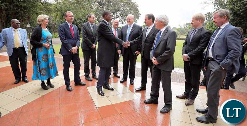 President Lungu greats EU Ambassadors at State House on Friday