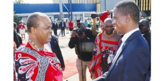 President Lungu with King Mswati
