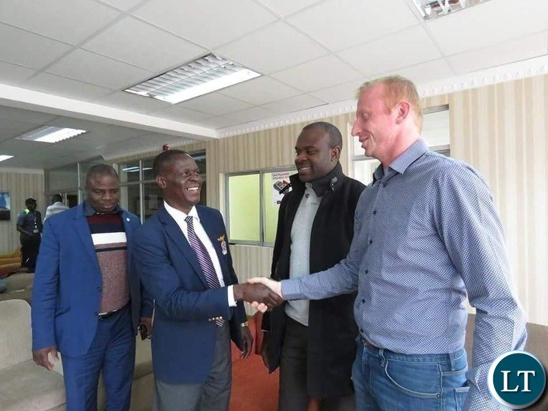 Zambia National Soccer team Coach Sven Vandebroeck