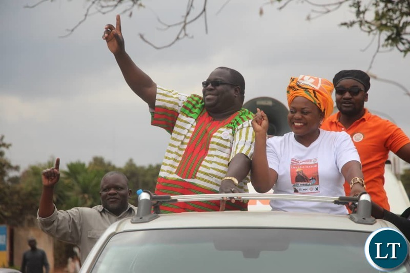 Kambwili and Saboi campaigning in Chawama
