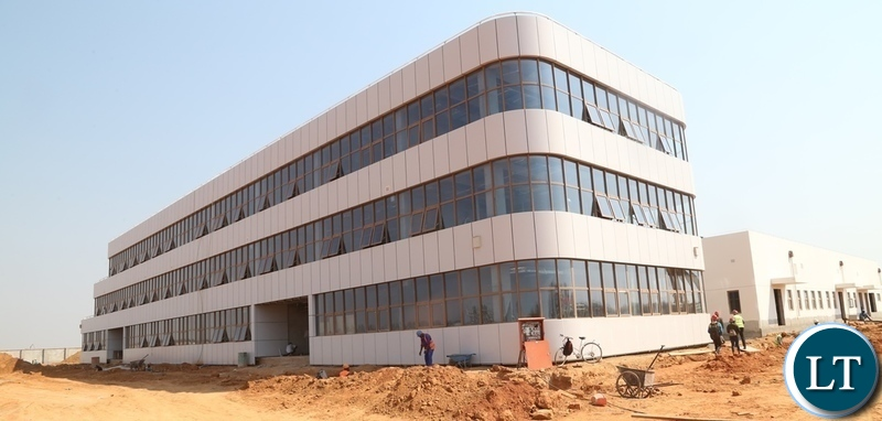 Airport Administration block 73% done at Kenneth Kaunda International (KKIA) one of the facility costing $360 million